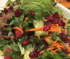 Pulled Pork & Avocado Salad