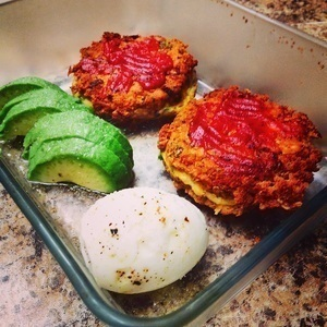 Wild Alaskan Salmon patties with an avacado and a boiled egg. Lunch!