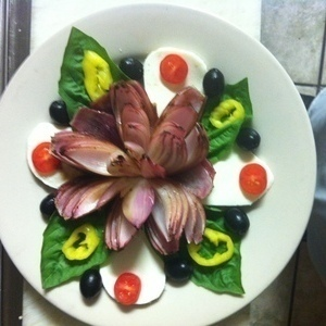 Roasted Red Onion Salad with Fresh Mozzarella